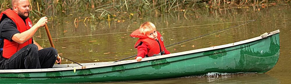 Mareck en canot
