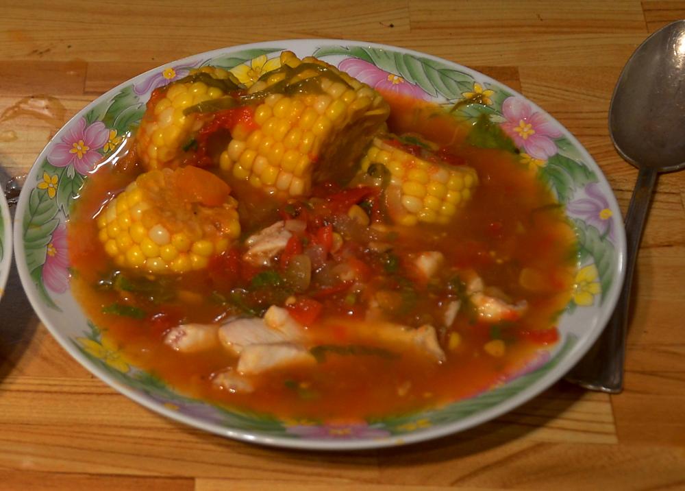 Soupe aux filets de poisson prête à manger!